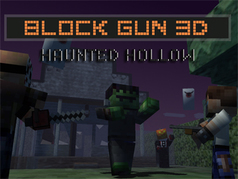 3D Block Gun: Haunted Hollow