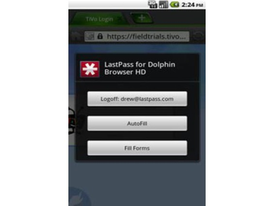 LastPass for Dolphin Browser HD