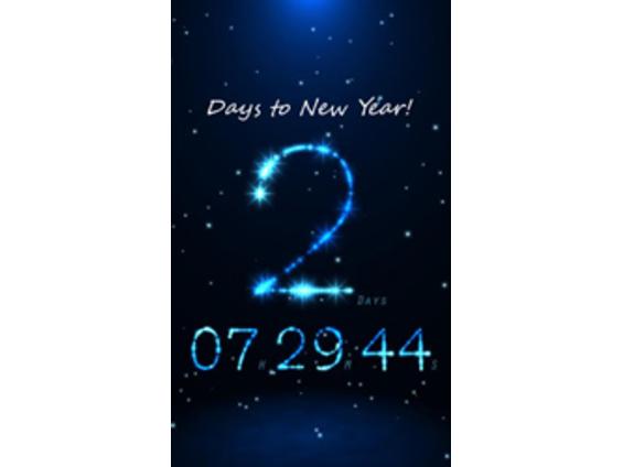 3D cuenta regresiva del Año Nuevo