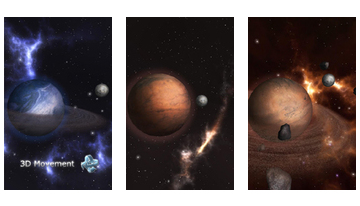 GyroSpace 3D Live Wallpaper