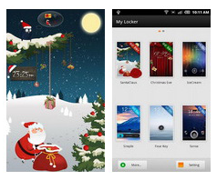 GO Locker Santa Claus Theme